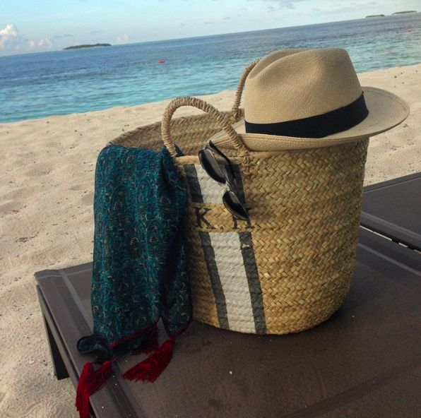 Rae Feather Monogrammed Tote BagIt seems as though no one took a beach trip without a monogrammed Rae Feather bag. #refinery29 http://www.refinery29.com/most-popular-instagram-items-2015#slide-26