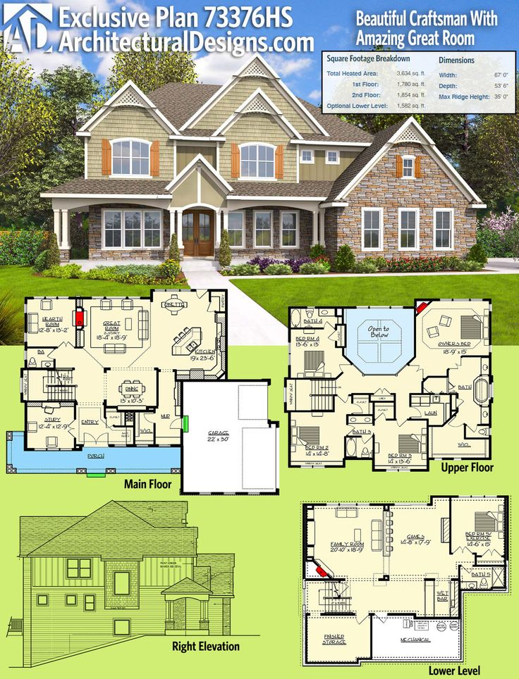 Best 25 unique house plans ideas only on pinterest for Best selling craftsman house plans