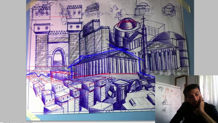 Draw Classical Architecture In Pen - Graphics, Composition Mistakes Crit