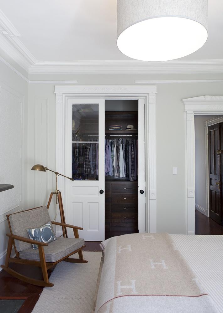 Closet doors minimalist design blair harris interior for Closet interior designs