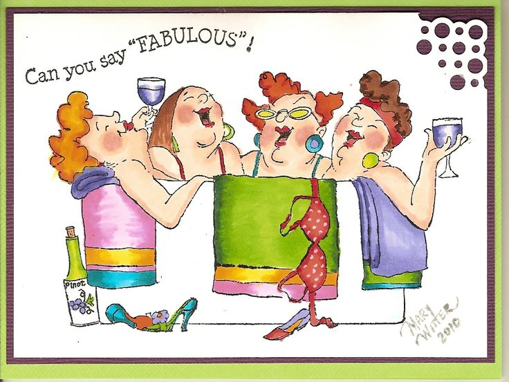 """Art Impressions Girlfriends """"In the tub"""" UM3570 Colored using Copic Markers"""