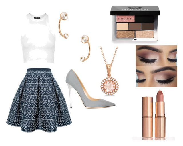 """prom"" by keeshac on Polyvore featuring Rumour London, Topshop, Valentino, Jimmy Choo, Bobbi Brown Cosmetics, Charlotte Tilbury, Allurez, women's clothing, women and female"