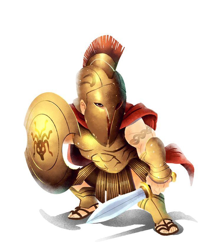 Spartan, Strong, bulky yet very agile warrior
