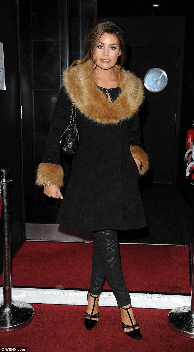 Fab in fur: Jessica Wright certainly had no shortage of male attention as she attended a L...