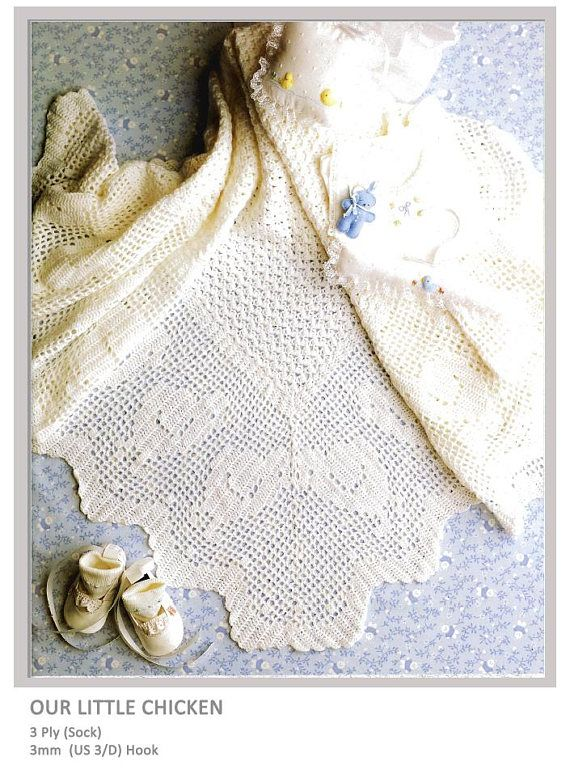 Our Little Chicken Baby Shawl  - pattern at www.yarnpassion.com