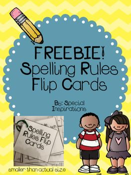 This packet includes spelling flip cards that can be printed on card stock, laminated, hole punched, and put on a ring to help students remember the spelling rules! The spelling rules included are:floss, tch, ck, dge, doubling, silent e, soft c, soft gthere, their, they'retoo, two, toYour feedback is greatly appreciated!