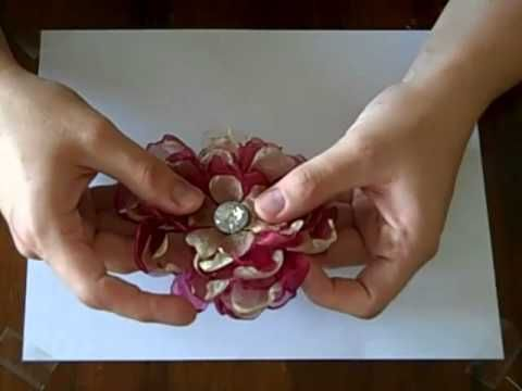 """Great YouTube video, """"Organza Flowers Tutorial Part 1 by Bethany Kartchner"""" on making melted edge organza flowers from plain cirlces. *It's easier to go watch them on YouTube as they provide part 2 and 3 to click on, right when the first video ends. Enjoy!"""