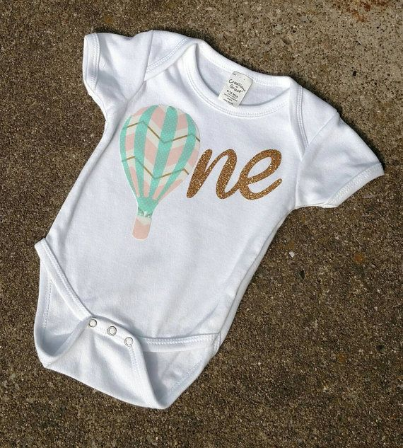 Check out this item in my Etsy shop https://www.etsy.com/listing/450141180/1st-birthday-hot-air-balloon-onesie