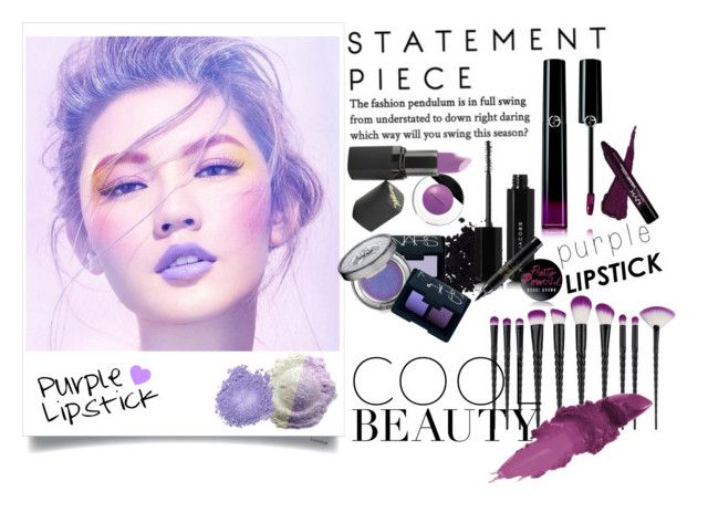 Purple lipstick by nicolepuppy on Polyvore featuring beauty, Giorgio Armani, Maybelline, Barry M, Marc Jacobs, Urban Decay, NARS Cosmetics, Bobbi Brown Cosmetics, MAC Cosmetics and Elizabeth Arden