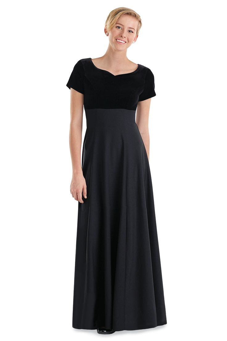 Youth black concert dress for women