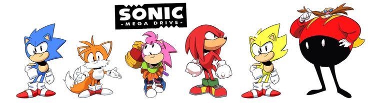 sonic mega drive   Jowybean 42 7 Sonic Mega Drive Main Cast FrostTheHobidon 90 32 Rouge ...