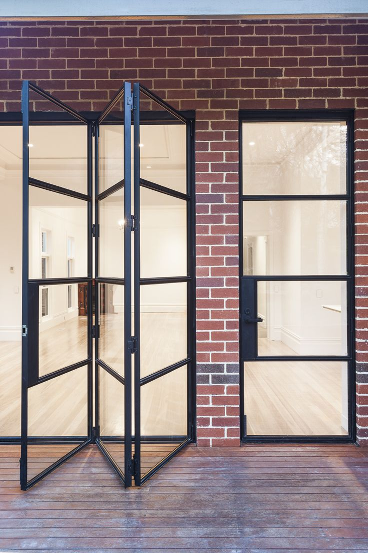 Steel windows and doors for a renovation of a private residence in Canterbury.  Photography by Ari Hatzis.