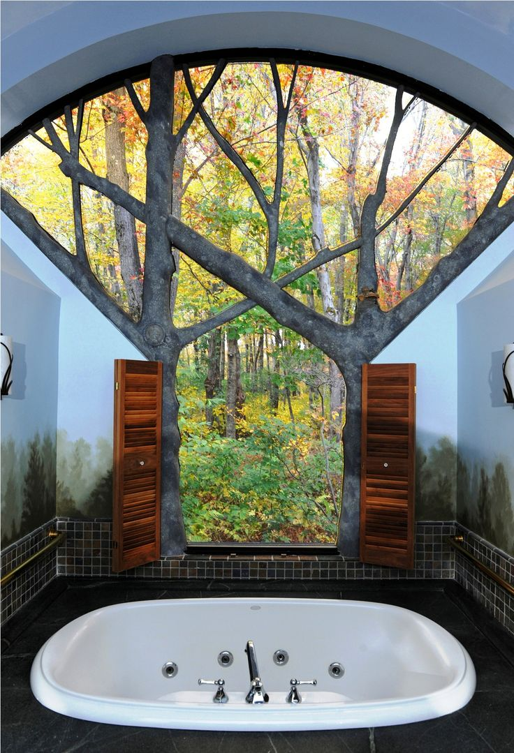 Unique, Architecturally Designed Cottages at Winvian - A Luxury Litchfield Hills, CT Resort Getaway. Love this window!