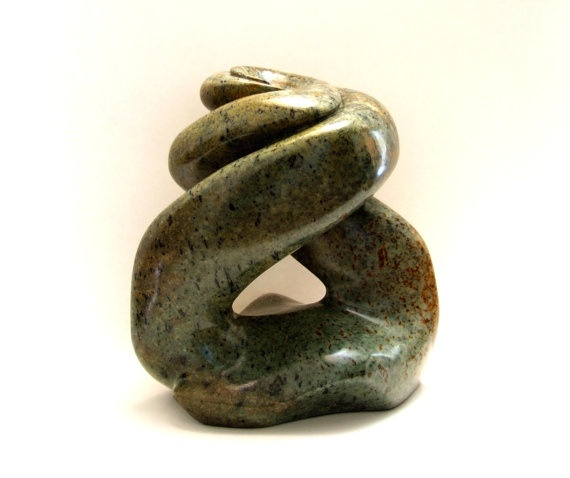 Abstract Soapstone Sculpture Collide Original by MathesonGemWorks, $675.00