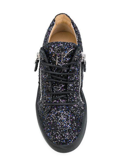 e38f7a97e120c Shop Giuseppe Zanotti Design Gail glitter low-top sneakers. | baver ...