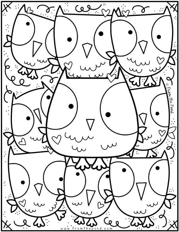 Owl Unicorn Coloring Pages Hd Images