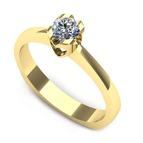 Inelul este format din: * Piatra principala: 1 x diamant, dimensiune: ~4.00mm, greutate: 0.25ct * Culoare: G, Claritate: VS2, forma: round