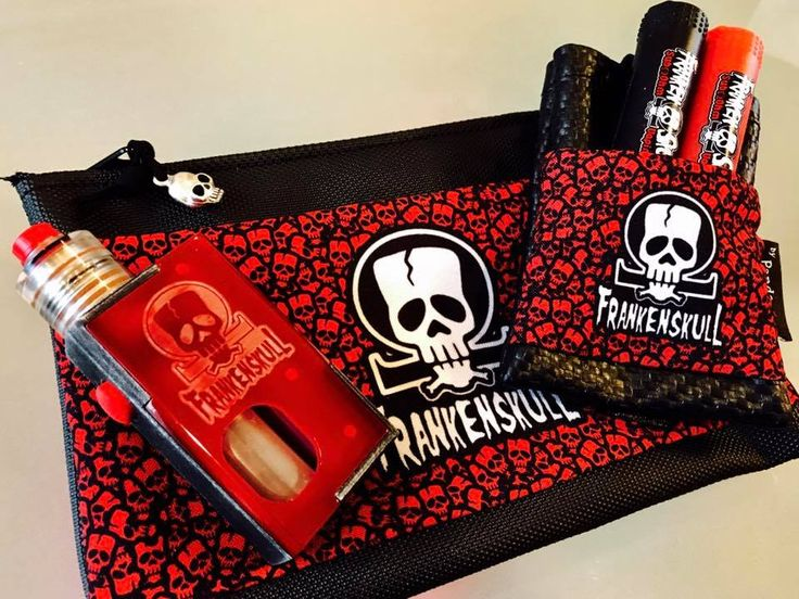 Pandoras black belt pouch and black Crypt pouch FrankenSkull logo
