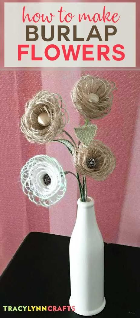 Diy Burlap Flowers Are Easy To Make Best Of Tracy Lynn Crafts