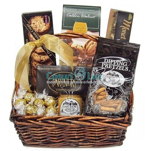 Cos cadou cu ciocolata, un cadou plin de gust pentru o ocazie... delicioasa!