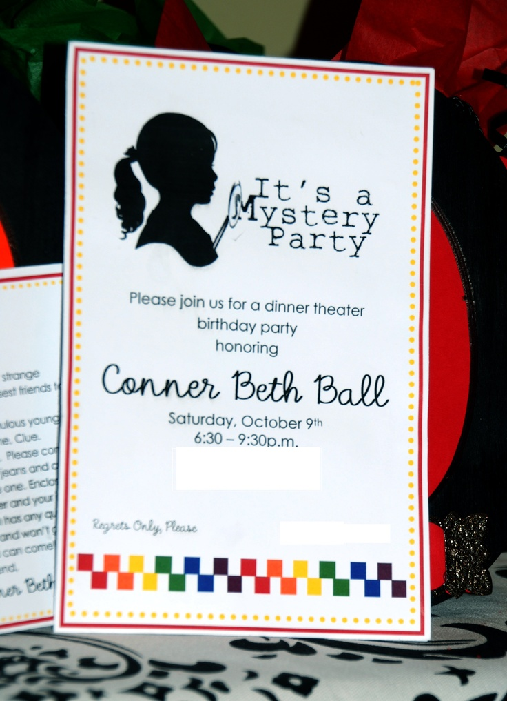 10 best  - invitation wording for mystery party
