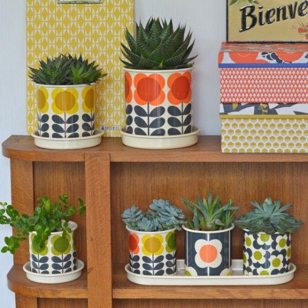 3 cache-pots Big Spot Orla Kiely - deco-graphic.com