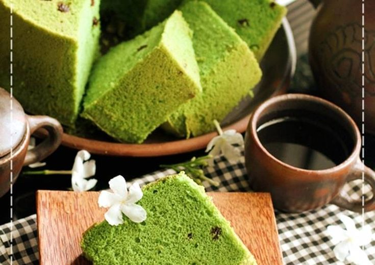 Chiffon Green Tea Matcha soft and moist