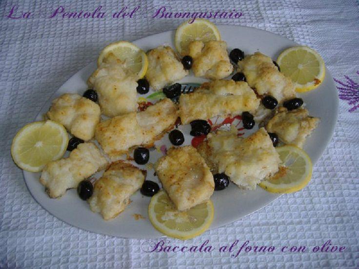 Baccalà al forno con olive