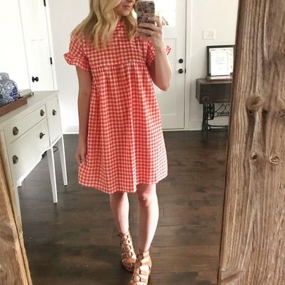 Pretty as a Picnic ❤️ This checkered smock dress comes in 3 colors and is so cute on. It also doubles as a great teaching outfit because it's the perfect length. Figured the last full day of school needed a bright and fun dress! Countdown is on to summer! @liketoknow.it http://liketk.it/2rCfE #liketkit #LTKunder50