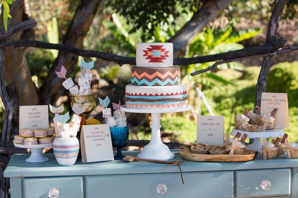 tribal dessert table