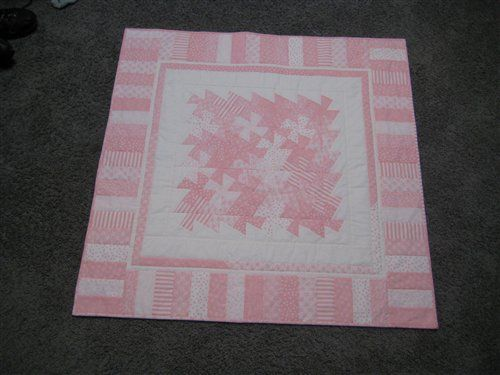 twister quilt | Baby girl quilt using twister tool - Quilters Club of America