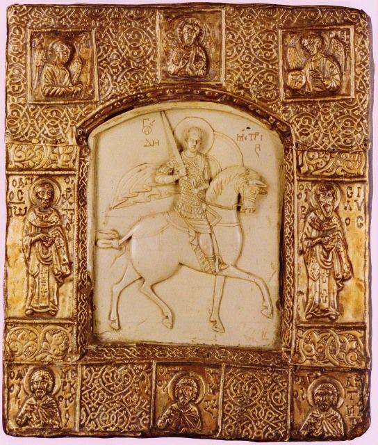 Византийская икона из слоновой кости. Фессалоники, 11 в.