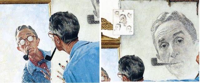 histoire-d-arts: ROCKWELL, Triple autoportrait, 1960