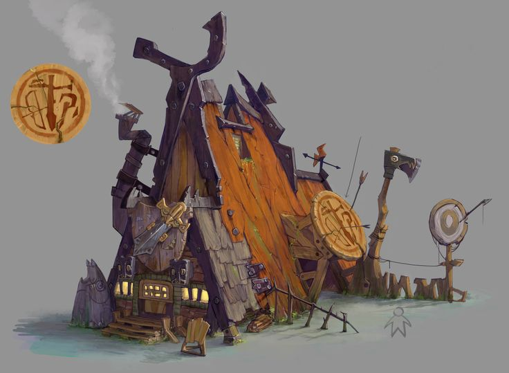 ArtStation - funny houses, xin xia