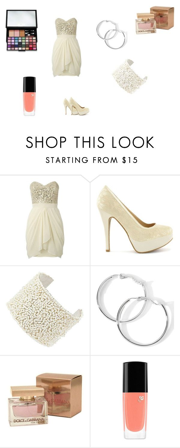 """vestito 18 anni"" by marty-m ❤ liked on Polyvore featuring Lipsy, Sugarfree Shoes, Dolce&Gabbana, Lancôme and Victoria's Secret"