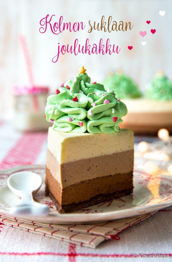 Kolmen suklaan kakku | Kinuskikissa | Bloglovin'