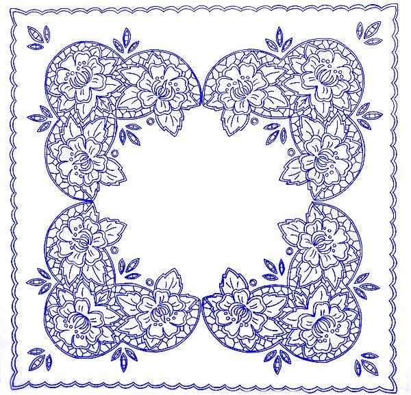 UBRUSY | Ubrus 70x70 cm CHZ | Ubrus CHZ 24 | Předtisky na vyšívání - Olga Synková Helga