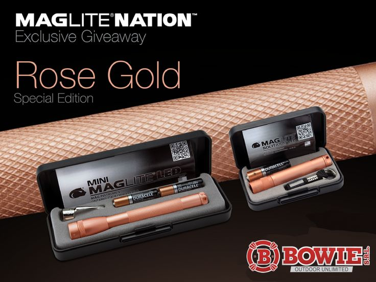 Maglite Mini 2AAA LED 100 Lumens y Maglite Solitare 1AAA LED 47 Lumens Edicion Limitada #bowie #maglite #camping #pesca #caza #outdoor #airelibre