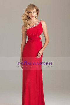 2012 column long Prom Dresses One Shoulder chiffon pleated bodice backless