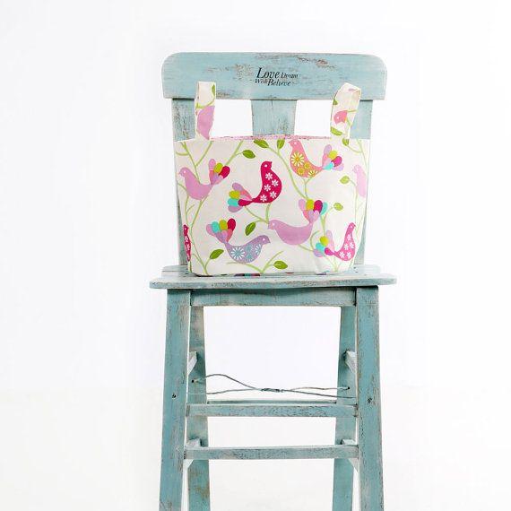 Stoff Veranstalter Bin Korb Container Multicolor Bird Drucken