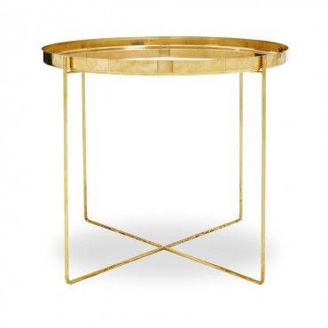 Tray Très Bon Brass Side Table