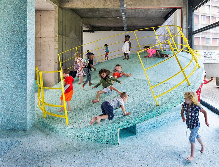 the team used RIBA's archival material to recreate demolished playgrounds as architectural installations and walk-through sculptures.