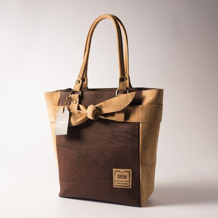 Grow's Quercus Brantii Light Brown Cork Handbag