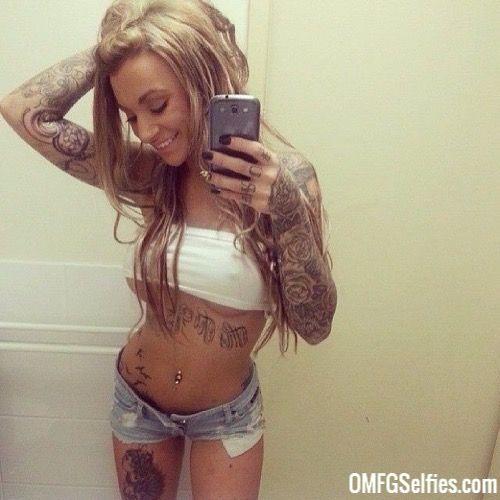Beautiful Tattooed Blonde Teen 42