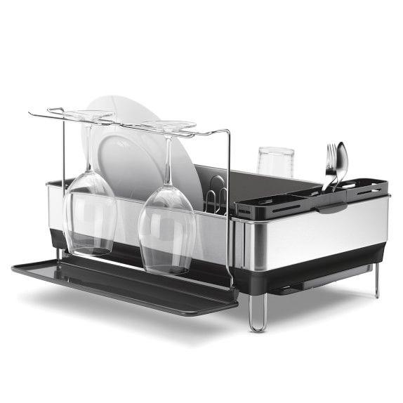 Stainless Steel Dish Rack Large Simplehuman Wine Glass Holder