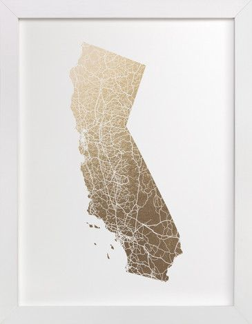 California Map Filled by GeekInk Design at minted.com