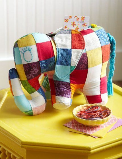 Quilted Gifts for Babies and Children | AllPeopleQuilt.com cute,  you could make any animal shape with the patchwork