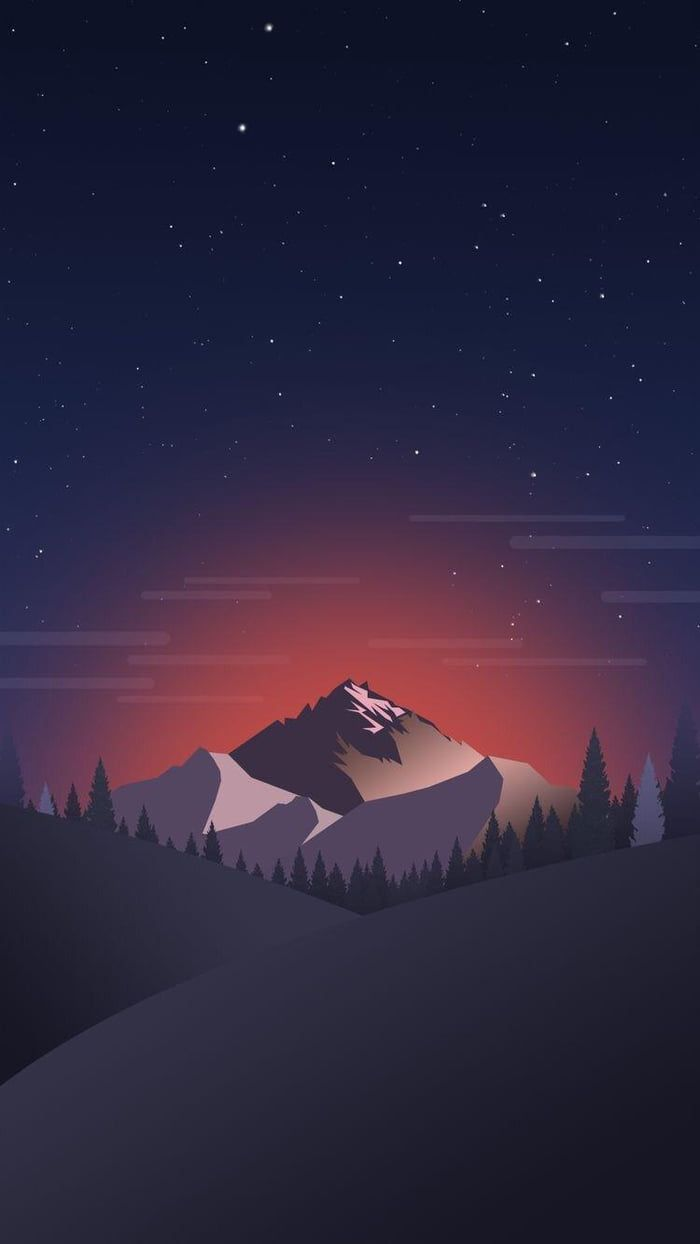 Mountain Minimal Wallpaper Mkbhd Wallpapers Landscape Wallpaper