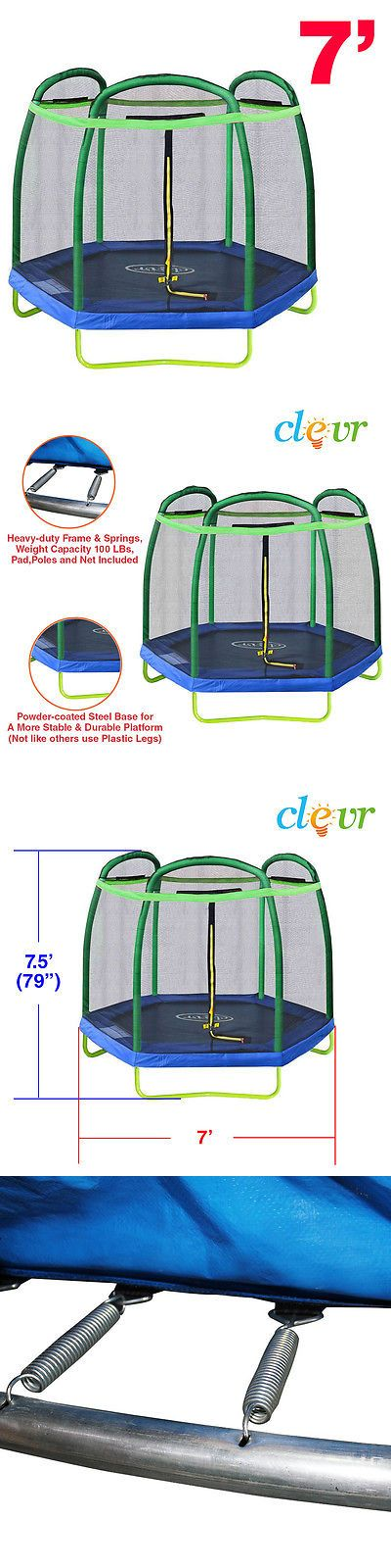 Trampolines 57275: New Clevr 7Ft Trampoline With Safety Enclosure Bounce Jump Net Spring Pad Round -> BUY IT NOW ONLY: $144.99 on eBay!