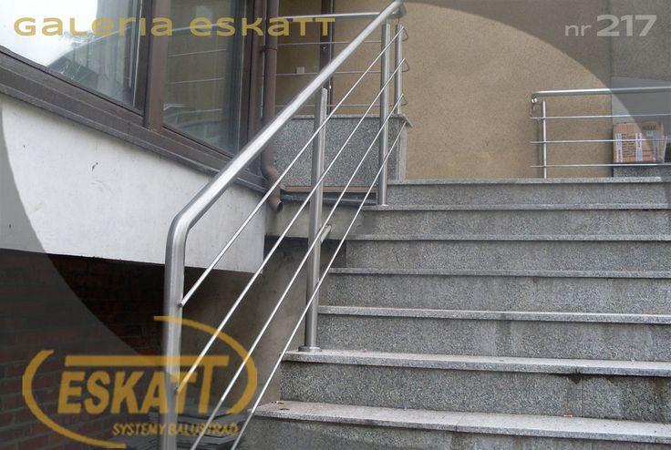 Stainless steel balustrade; with stainless steel horizontal filling #balustrade #eskatt #construction #stairs